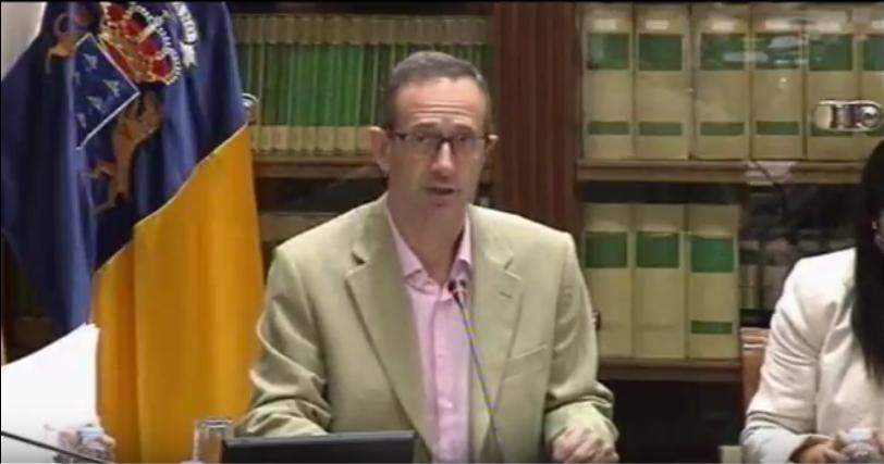 17/04/2018.  Reunión de la Comisión de la Consejería de Agricultura, Ganadería, Pesca y Aguas del Gobierno de Canarias