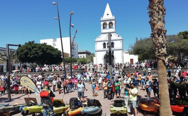 Concentración de los pescadores recreativos el 9 de Mayo en la Isla de Fuerteventura, en contra del Real Decreto.
