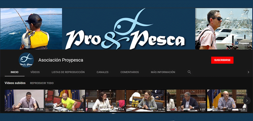 youtube, proypesca, canal de youtube